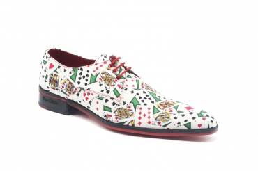 Zapato modelo All-in, fabricado en Fantasia Poker