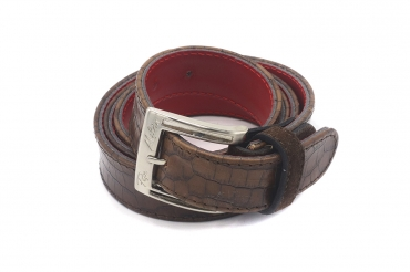 Loras model belt, manufactured in Coco Caoba