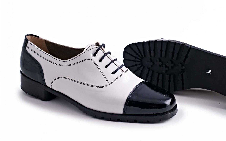negra blanco suela charol con zapato aw0IYFqOOx