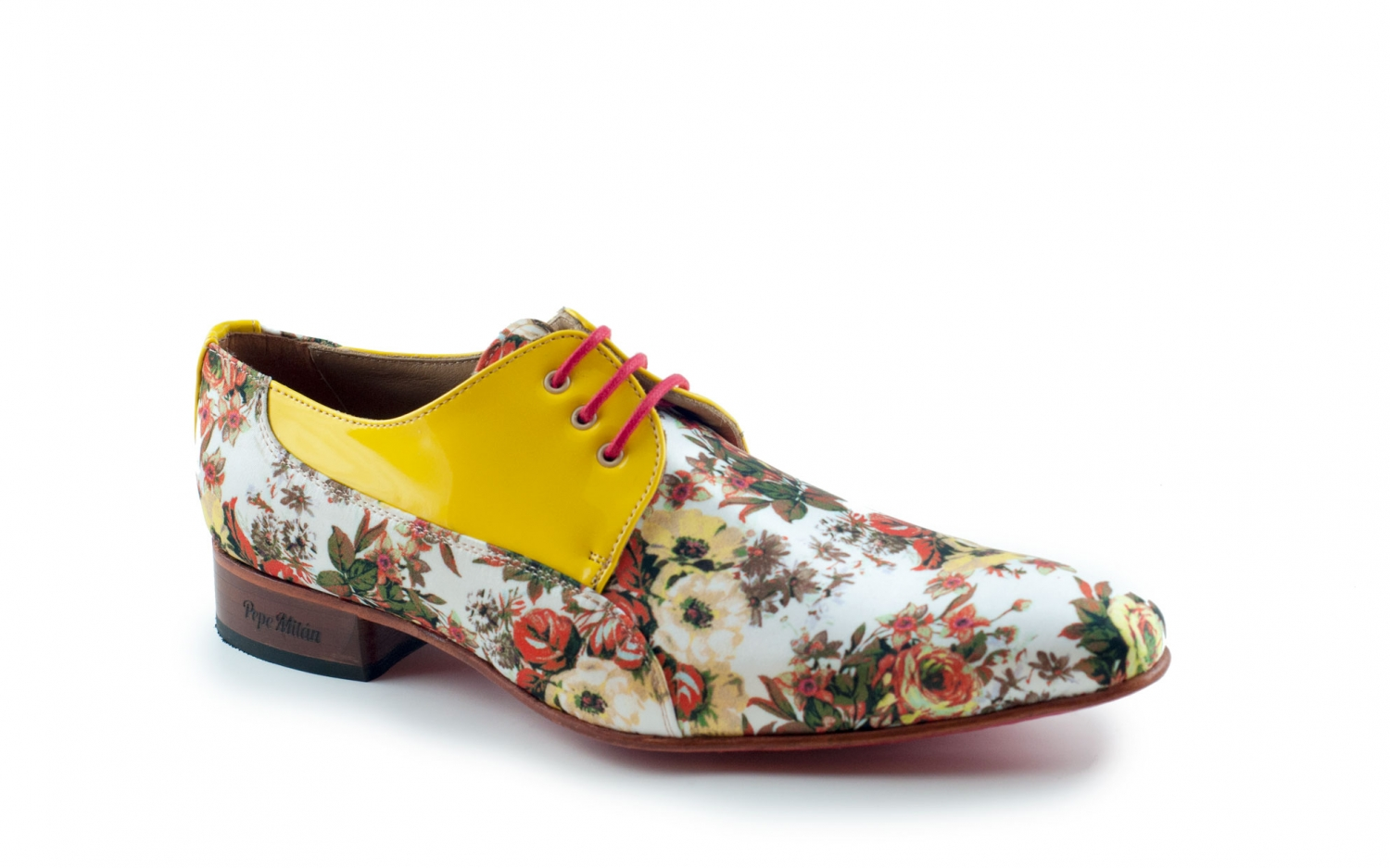 Leather Patent And Butterfly Model 70 ShoeIn Satin Lemon kZPXwTiOul