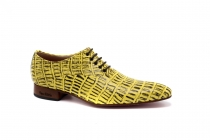 Texaco model shoe, manufactured in yellow alligator.