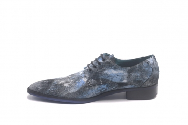 Texas model shoe, made in blue Oxi